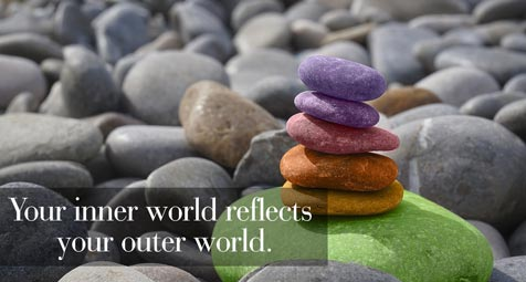 Your inner world reflects your outer world.