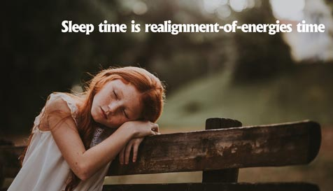 Sleep time is realignment-of-energies time